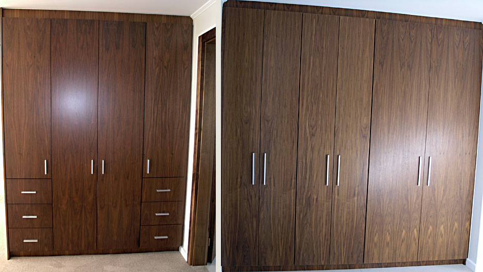 Bedroom Cupboards American Walnut Veneer Innovative Joinery
