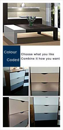 colour-coded by innovative joinery