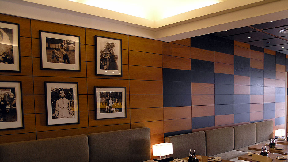 Panelling Wall And Ceiling Stained Oak Veneer Innovative Joinery - wall panelling designs with veneer